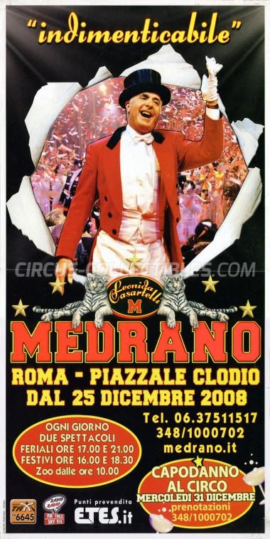 Medrano (Casartelli) Circus Poster - Italy, 2008
