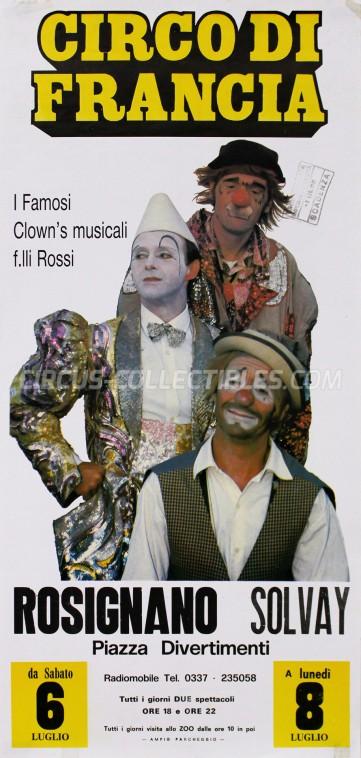 Circo di Francia Circus Poster - Italy, 1991