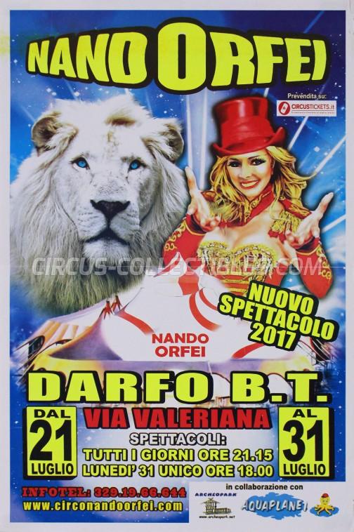 Nando Orfei Circus Poster - Italy, 2017