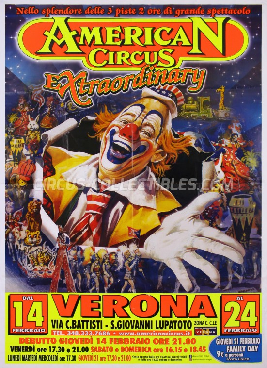 American Circus Circus Poster - Italy, 2019