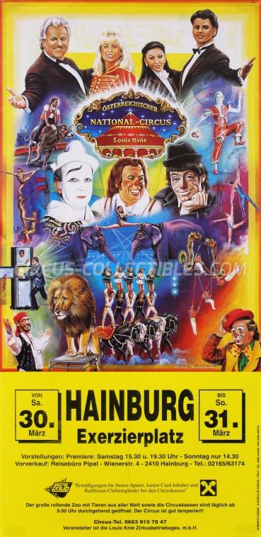 Louis Knie Circus Poster - Austria, 1996