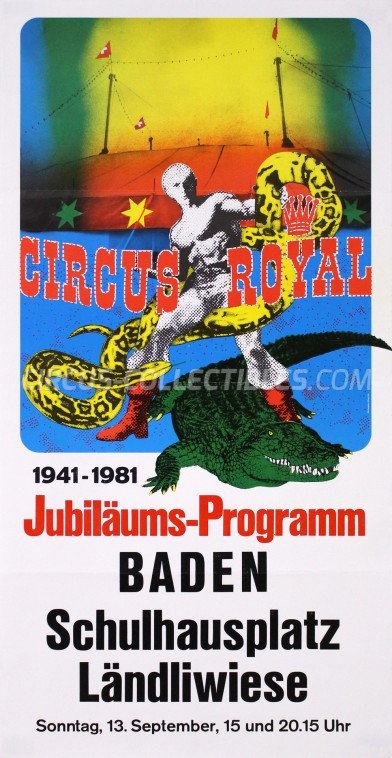 Royal (CH) Circus Poster - Switzerland, 1981