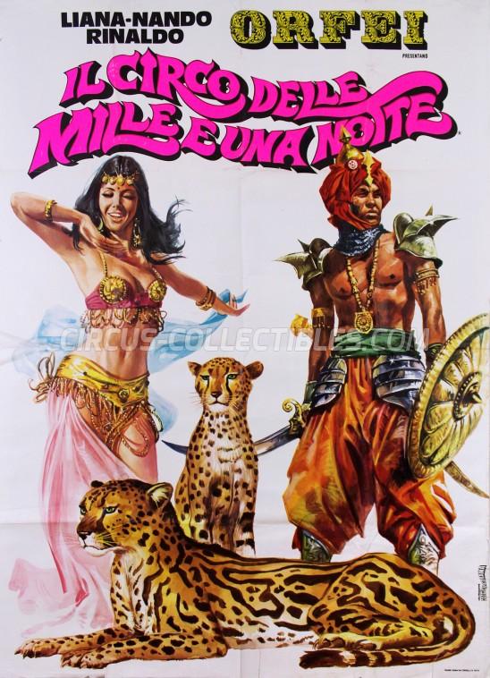 Nando, Liana, Rinaldo Orfei Circus Poster - Italy, 1973