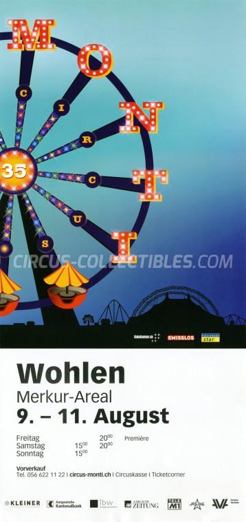 Monti Circus Poster - Switzerland, 2019