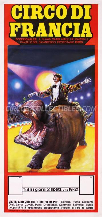 Circo di Francia Circus Poster - Italy, 1986