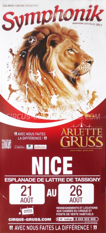 Arlette Gruss Circus Poster - France, 2013