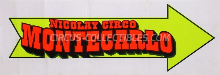 Circo di Montecarlo Circus Poster - Italy, 0