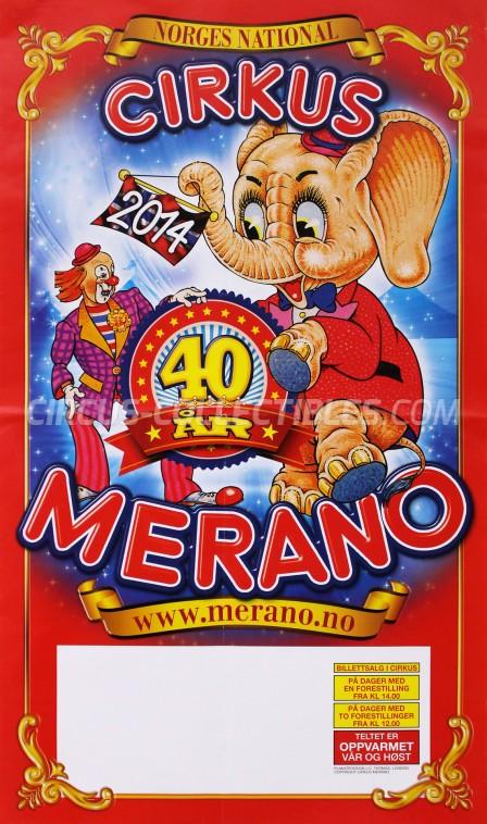 Merano Circus Poster - Norway, 2014