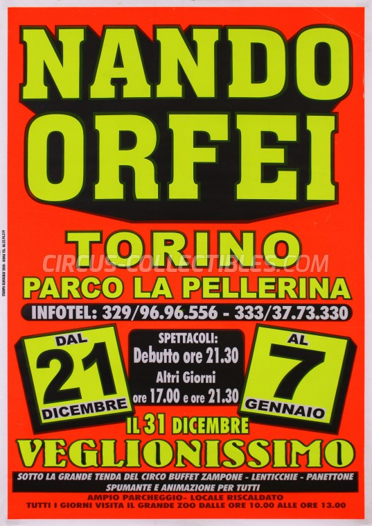 Nando Orfei Circus Poster - Italy, 2006