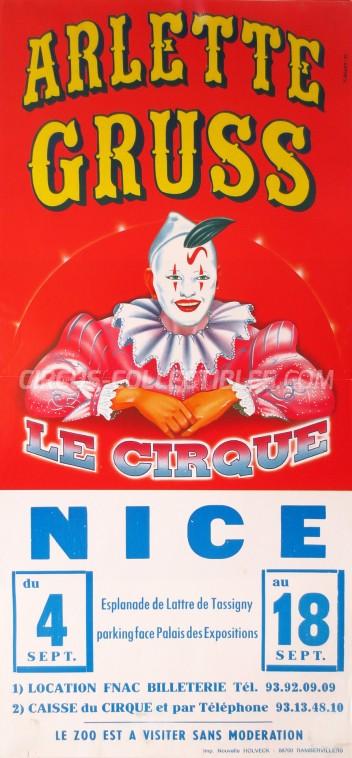 Arlette Gruss Circus Poster - France, 1996
