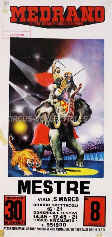 Medrano (Casartelli) Circus Poster - Italy, 1983