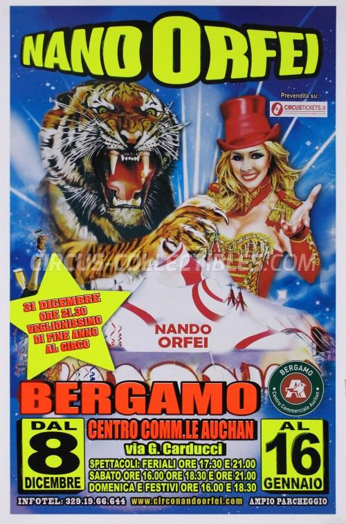 Nando Orfei Circus Poster - Italy, 2016