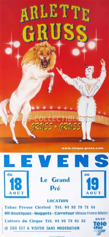 Arlette Gruss Circus Poster - France, 1998
