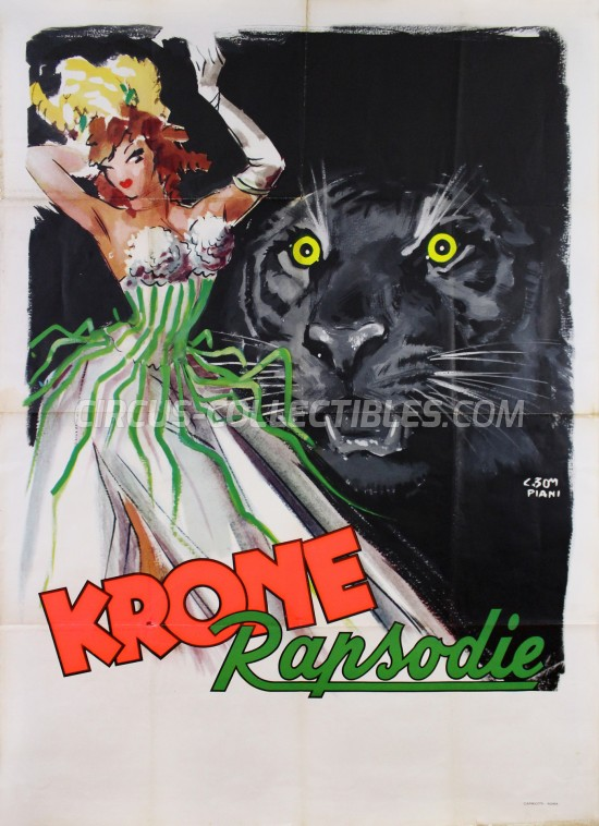 Krone Circus Poster - Germany, 1956