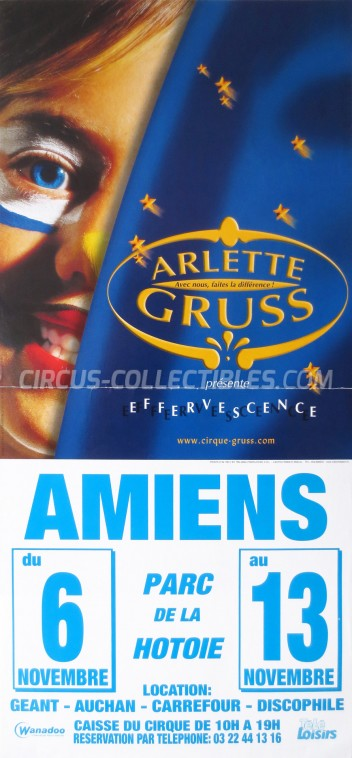 Arlette Gruss Circus Poster - France, 2002