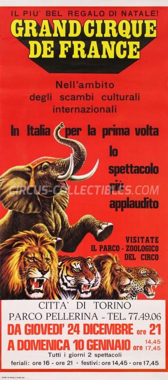 Circo di Francia Circus Poster - Italy, 1981