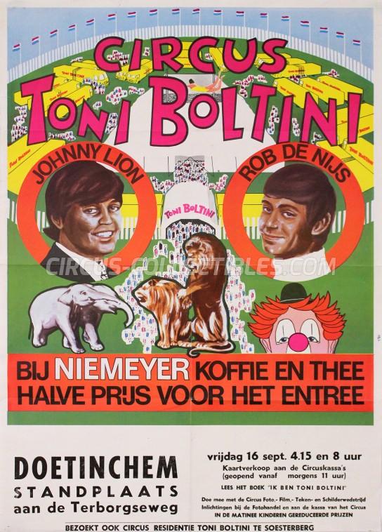 Toni Boltini Circus Poster - Netherlands, 1966