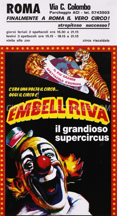Embell Riva Circus Poster - Italy, 1987