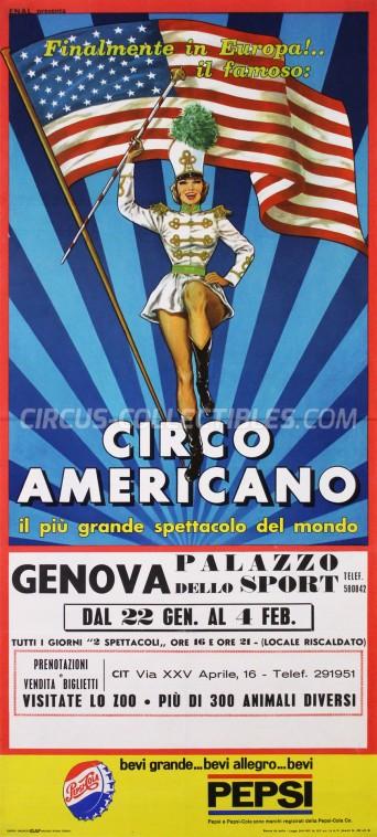American Circus Circus Poster - Italy, 1965