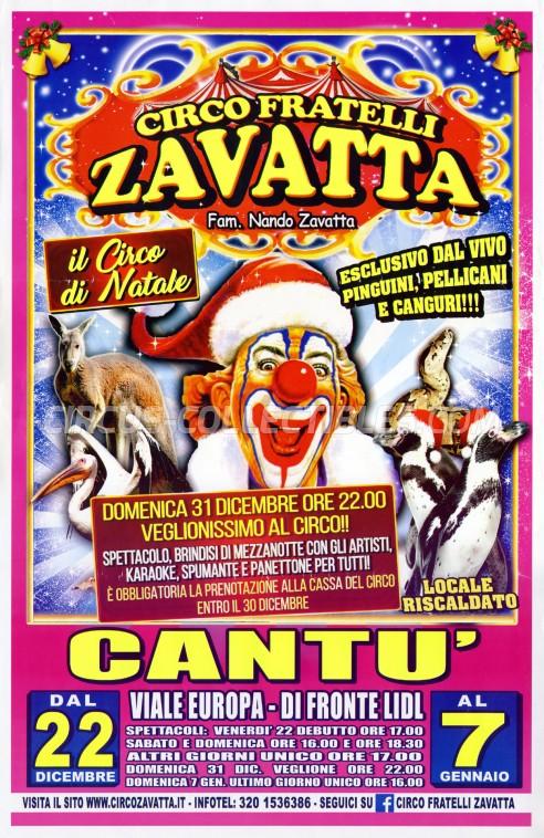 Fratelli Zavatta Circus Poster - Italy, 2017