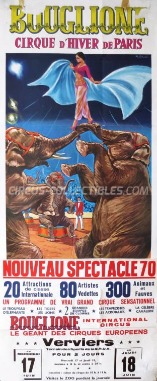 Bouglione Circus Poster - France, 1970