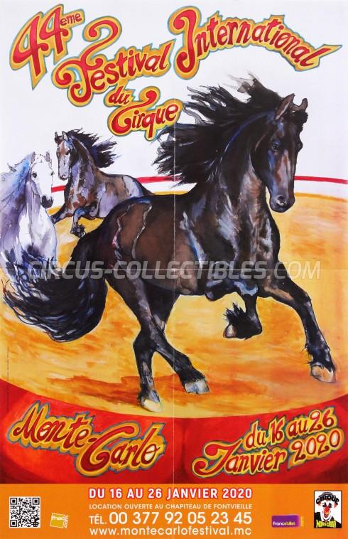 Festival International du Cirque de Monte-Carlo Circus Poster - Monaco, 2020