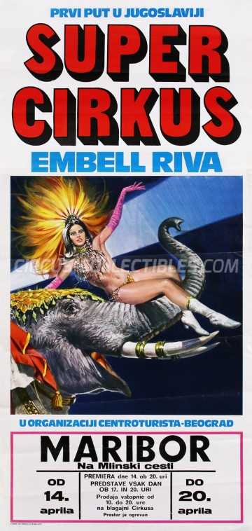 Embell Riva Circus Poster - Italy, 1976