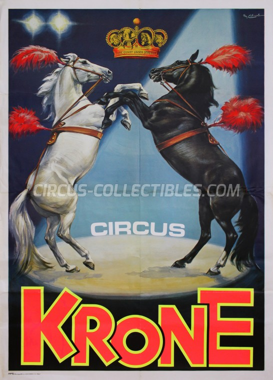 Krone Circus Poster - Germany, 1981