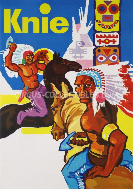 Knie Circus Poster - Switzerland, 1958