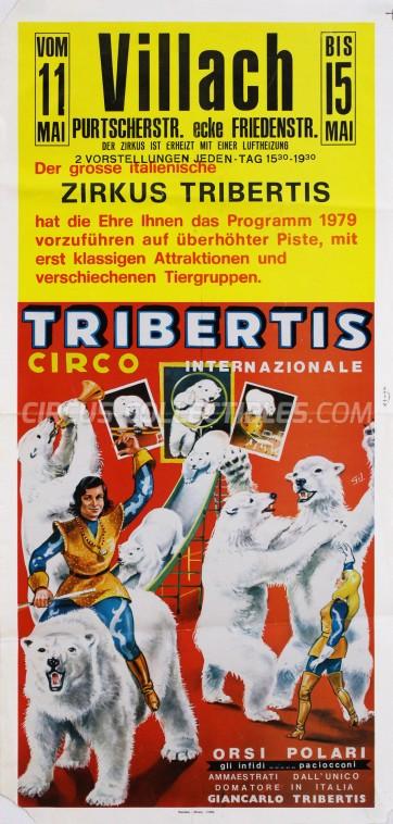 Tribertis Circus Poster - Italy, 1979