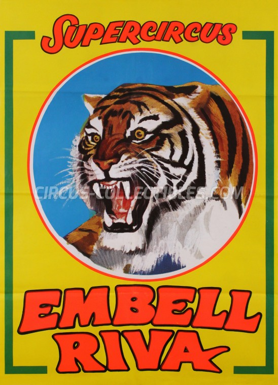 Embell Riva Circus Poster - Italy, 1981