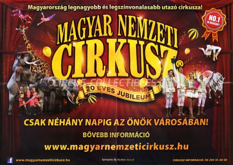 Magyar Nemzeti Circusz Circus Poster - Hungary, 2014