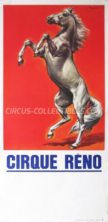 Réno Circus Poster - France, 1978