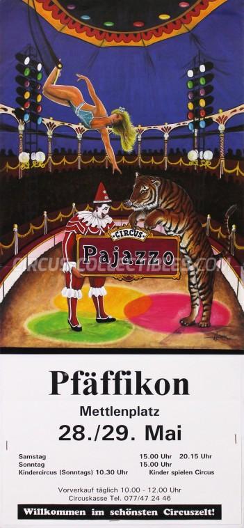 Pajazzo Circus Poster - Switzerland, 1994
