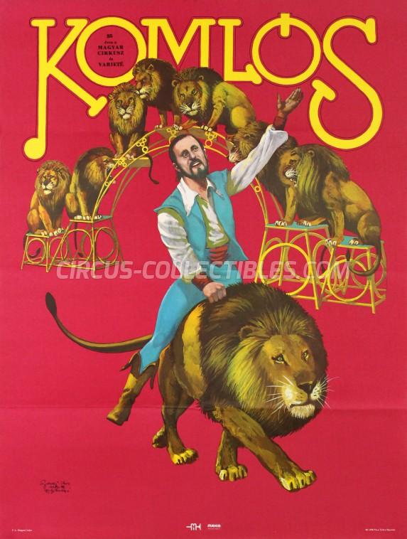 Fovarosi Nagycirkusz Circus Poster - Hungary, 1980