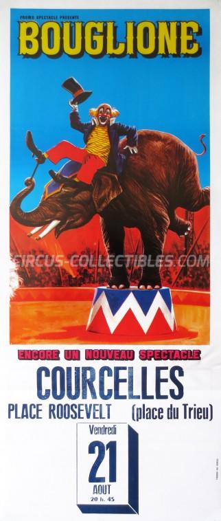 Alexandre Bouglione Circus Poster - Belgium, 1987
