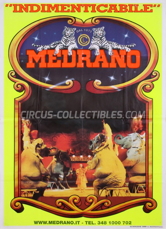 Medrano (Casartelli) Circus Poster - Italy, 2004
