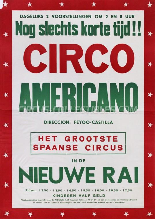 Americano (Feyoo-Castilla) Circus Poster - Spain, 1961