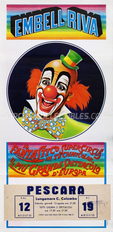 Embell Riva Circus Poster - Italy, 1982