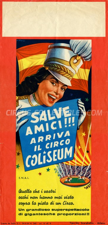 Coliseum Circus Poster - Italy, 1965