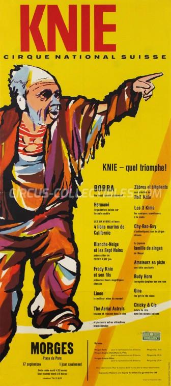 Knie Circus Poster - Switzerland, 1963