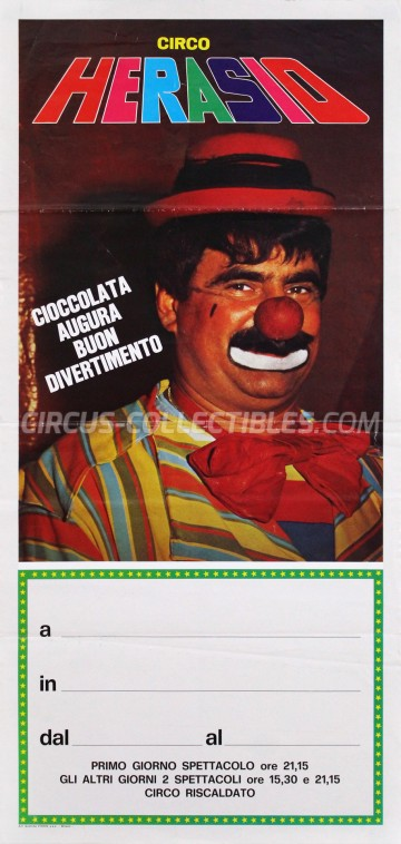 Herasio Circus Poster - Italy, 0