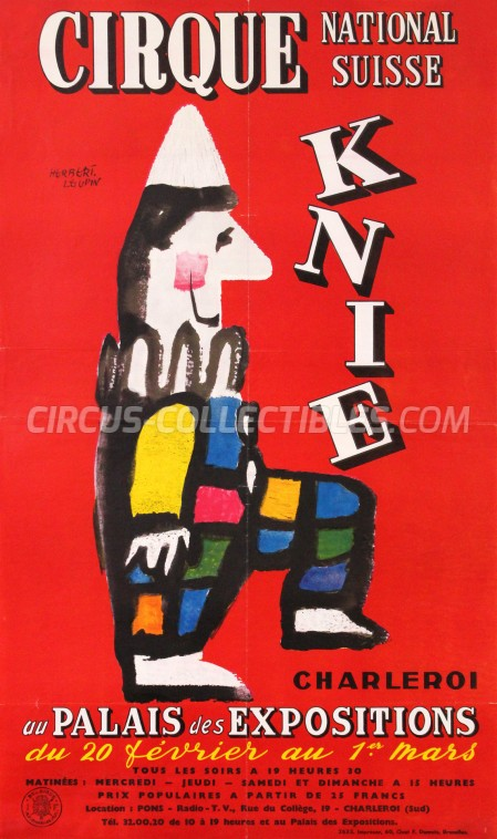 Knie Circus Poster - Switzerland, 1959