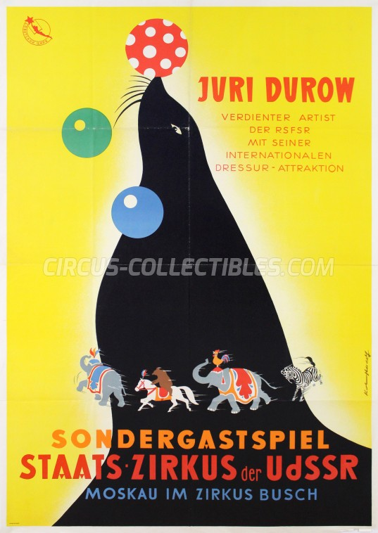 Russian State Circus Circus Poster - Russia, 1963