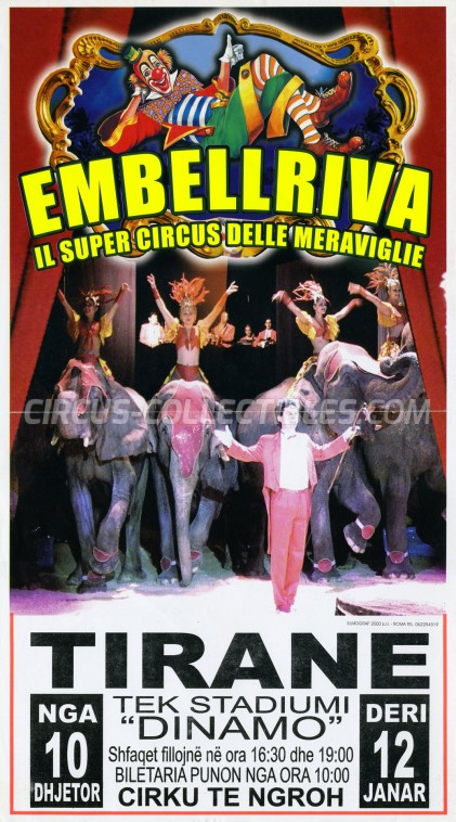 Embell Riva Circus Poster - Italy, 2009