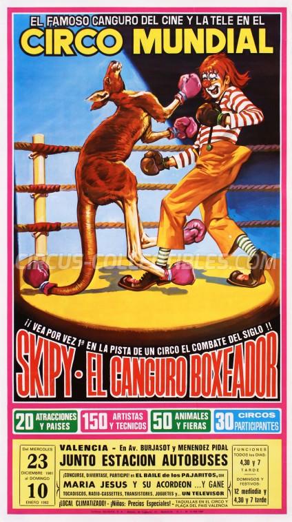 Mundial Circus Poster - Spain, 1981