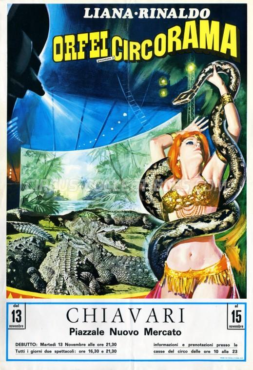 Liana e Rinaldo Orfei Circus Poster - Italy, 1979