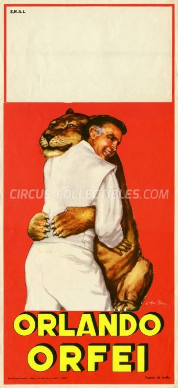 Orlando Orfei Circus Poster - Italy, 1965
