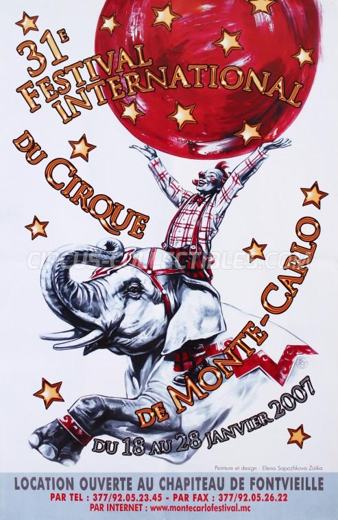 Festival International du Cirque de Monte-Carlo Circus Poster - Monaco, 2007