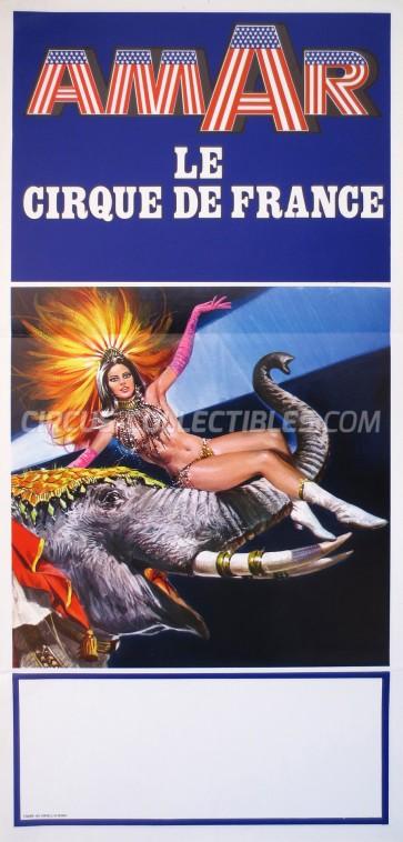 Amar Circus Poster - France, 1978